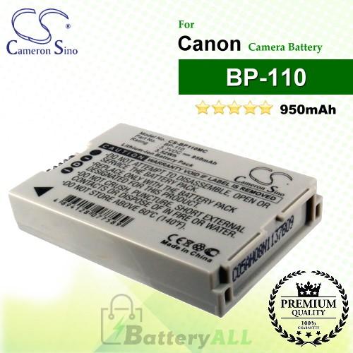 CS-BP110MC For Canon Camera Battery Model BP-110