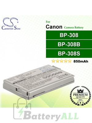CS-BP308 For Canon Camera Battery Model BP-308 / BP-308B / BP-308S