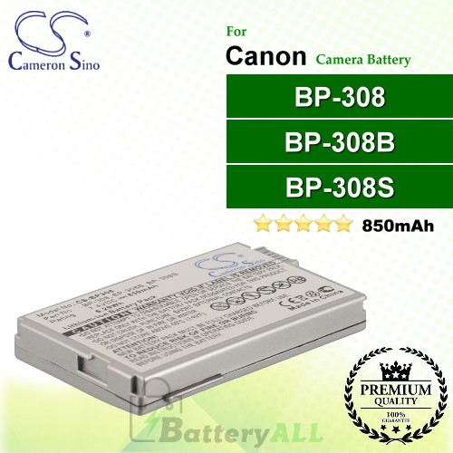 CS-BP308 For Canon Camera Battery Model BP-308 / BP-308B / BP-308S