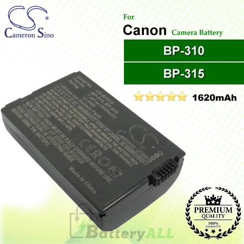 CS-BP315 For Canon Camera Battery Model BP-310 / BP-315