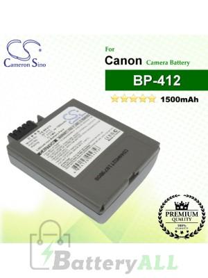 CS-BP412 For Canon Camera Battery Model BP-412