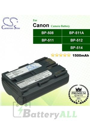 CS-BP511 For Canon Camera Battery Model BP-508 / BP-511 / BP-511A / BP-512 / BP-514