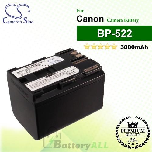 CS-BP522 For Canon Camera Battery Model BP-522