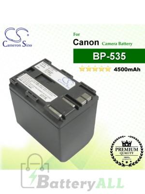 CS-BP535 For Canon Camera Battery Model BP-535