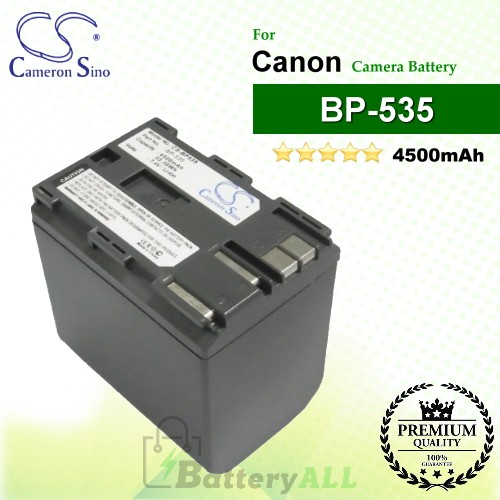 CS-BP535 For Canon Camera Battery Model BP-535