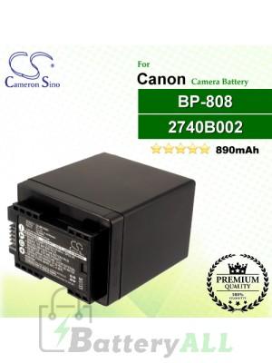 CS-BP808 For Canon Camera Battery Model 2740B002 / BP-808