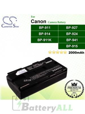 CS-BP915 For Canon Camera Battery Model BP-911 / BP-911K / BP-914 / BP-915 / BP-924 / BP-927 / BP-941