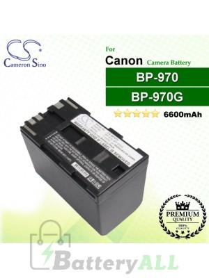 CS-BP970 For Canon Camera Battery Model BP-970 / BP-970G