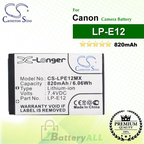 CS-LPE12MX For Canon Camera Battery Model LP-E12