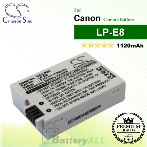 CS-LPE8 For Canon Camera Battery Model LP-E8