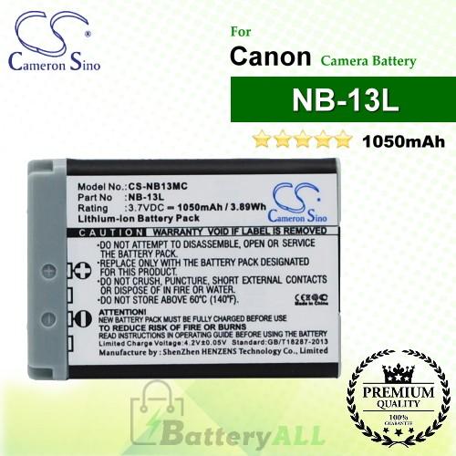 CS-NB13MC For Canon Camera Battery Model NB-13L