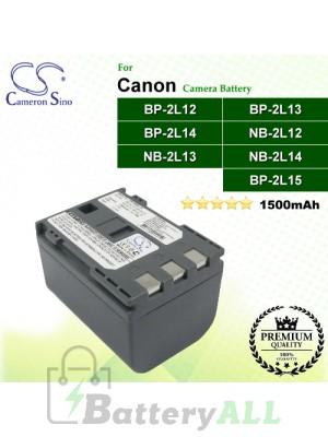 CS-NB2L12 For Canon Camera Battery Model BP-2L12 / BP-2L13 / BP-2L14 / NB-2L12 / NB-2L13 / NB-2L14