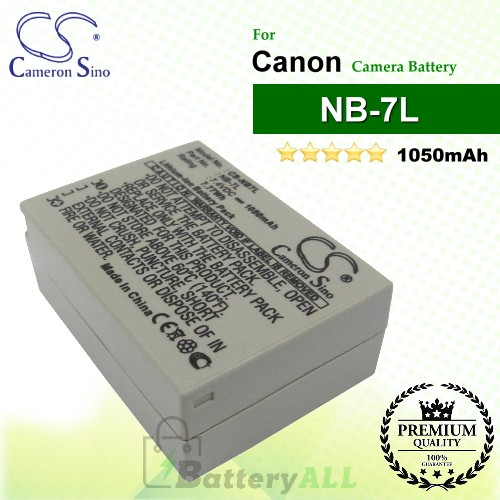CS-NB7L For Canon Camera Battery Model NB-7L