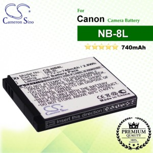CS-NB8L For Canon Camera Battery Model NB-8L