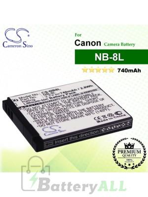 CS-NB8L For Canon Camera Battery Model NB-8L