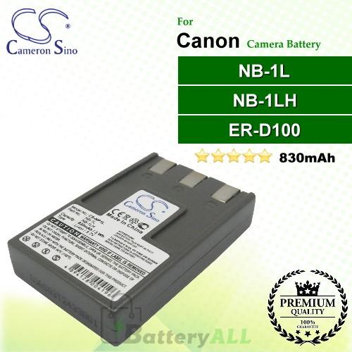 CS-NP1L For Canon Camera Battery Model ER-D100 / NB-1L / NB-1LH