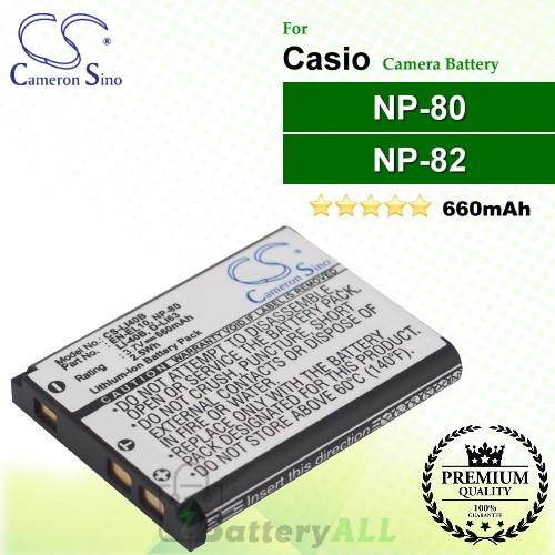 CS-LI40B For Casio Camera Battery Model NP-80 / NP-82
