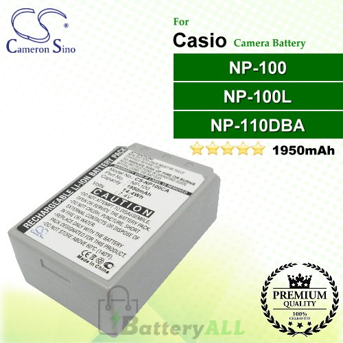 CS-NP100CA For Casio Camera Battery Model NP-100 / NP-100L