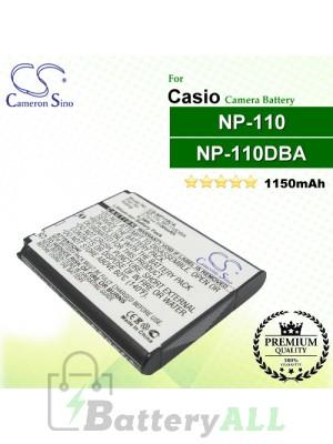 CS-NP110CA For Casio Camera Battery Model NP-110 / NP-110DBA / NP-110L