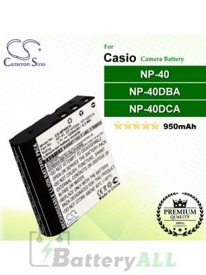 CS-NP40CA For Casio Camera Battery Model NP-40 / NP-40DBA / NP-40DCA