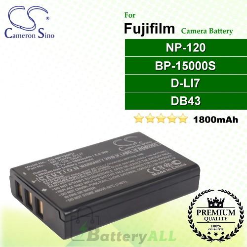 CS-NP120FU For Fujifilm Camera Battery Model NP-120