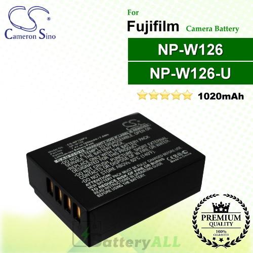 CS-NP126FU For Fujifilm Camera Battery Model NP-W126 / NP-W126S
