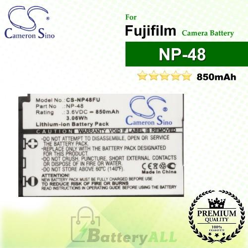 CS-NP48FU For Fujifilm Camera Battery Model NP-48