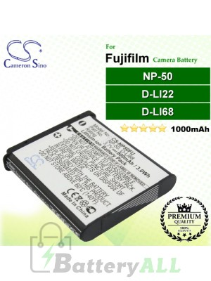 CS-NP50FU For Fujifilm Camera Battery Model NP-50 / NP-50A