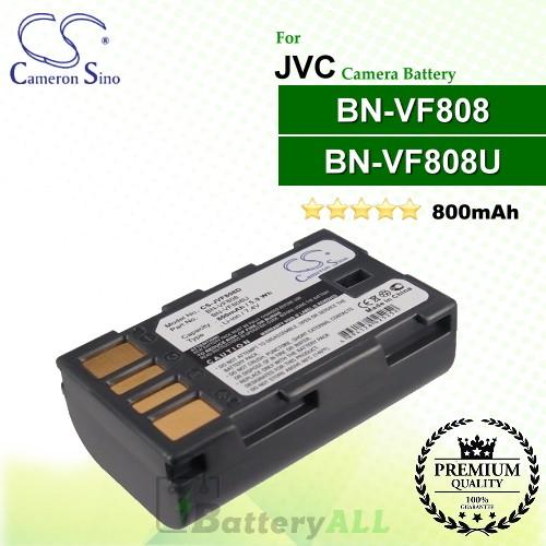CS-JVF808D For JVC Camera Battery Model BN-VF808 / BN-VF808U