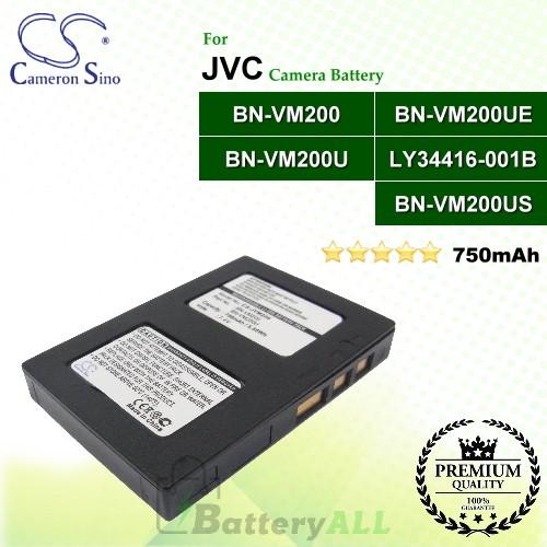 CS-JVM200 For JVC Camera Battery Model BN-VM200 / BN-VM200U / BN-VM200UE / BN-VM200US / LY34416-001B