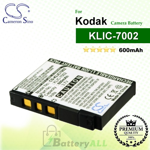 CS-KLIC7002 For Kodak Camera Battery Model KLIC-7002