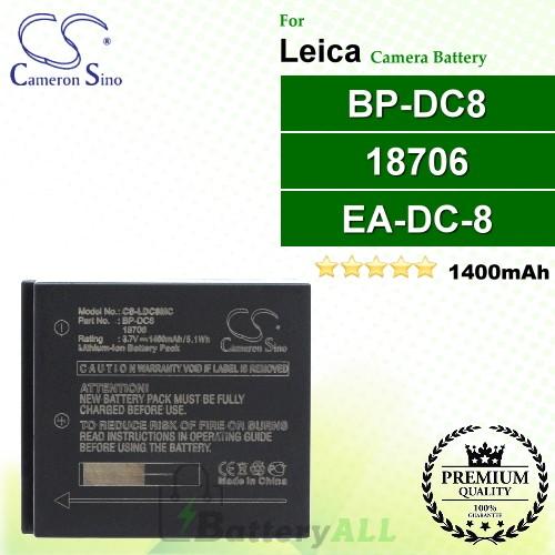 CS-LDC8MC For Leica Camera Battery Model 18706 / BP-DC8 / EA-DC-8
