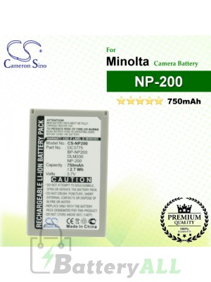 CS-NP200 For Minolta Camera Battery Model NP-200