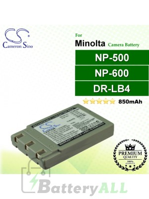 CS-NP500 For Minolta Camera Battery Model NP-500 / NP-600