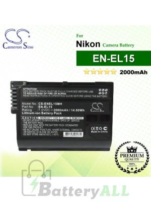 CS-ENEL15MH For Nikon Camera Battery Model EN-EL15