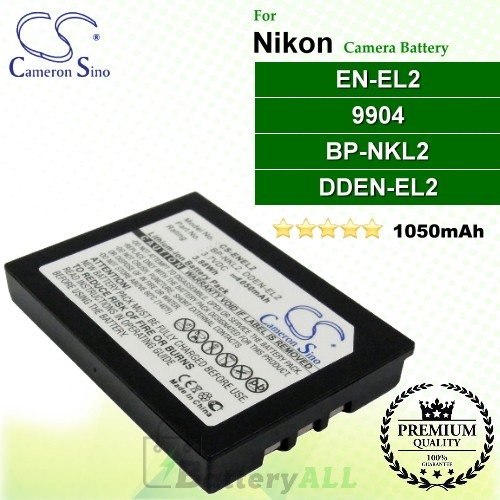 CS-ENEL2 For Nikon Camera Battery Model 9904 / BP-NKL2 / DDEN-EL2 / EN-EL2