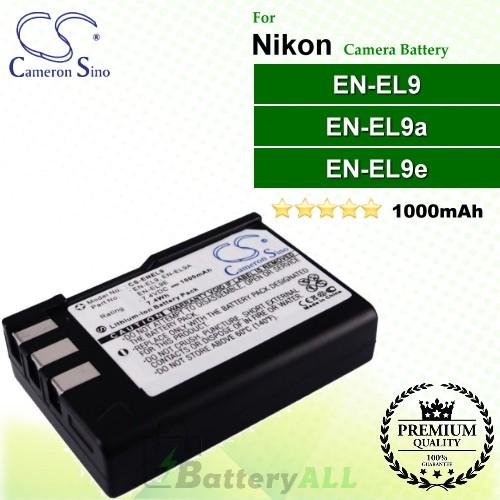 CS-ENEL9 For Nikon Camera Battery Model EN-EL9 / EN-EL9A / EN-EL9E