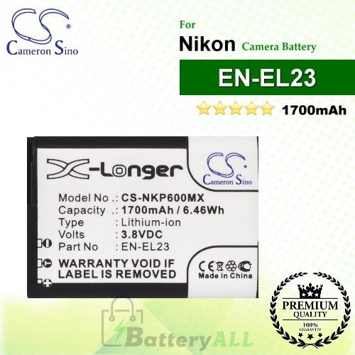 CS-NKP600MX For Nikon Camera Battery Model EN-EL23