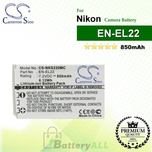 CS-NKS220MC For Nikon Camera Battery Model EN-EL22