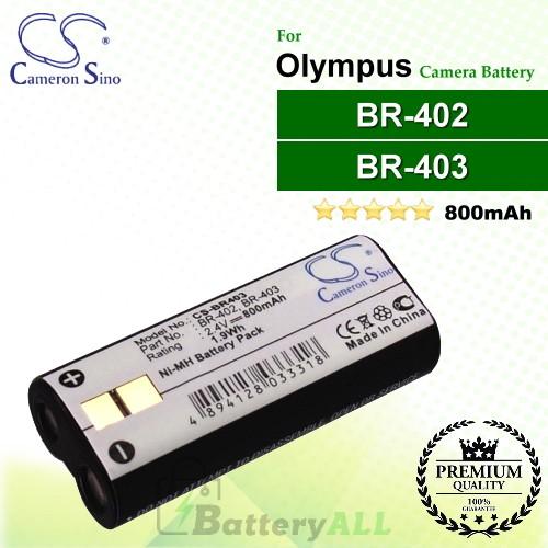CS-BR403 For Olympus Camera Battery Model BR-402 / BR-403