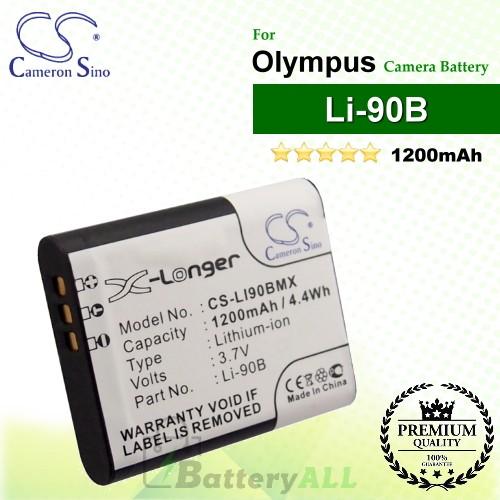CS-LI90BMX For Olympus Camera Battery Model Li-90B / LI-92B