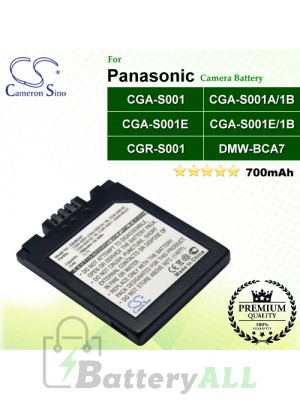CS-BCA7 For Panasonic Camera Battery Model CGA-S001 / CGA-S001A/1B / CGA-S001E / CGA-S001E/1B / CGR-S001 / DMW-BCA7