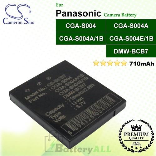 CS-BCB7 For Panasonic Camera Battery Model CGA-S004 / CGA-S004A / CGA-S004A/1B / CGA-S004E/1B / DMW-BCB7