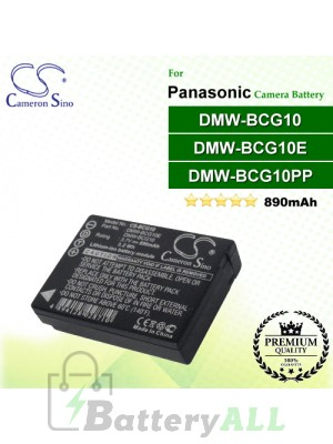 CS-BCG10 For Panasonic Camera Battery Model DMW-BCG10 / DMW-BCG10E / DMW-BCG10GK / DMW-BCG10PP