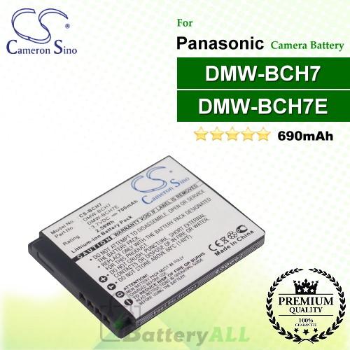CS-BCH7 For Panasonic Camera Battery Model DMW-BCH7 / DMW-BCH7E / DMW-BCH7G / DMW-BCH7GK / DMW-BCH7PP