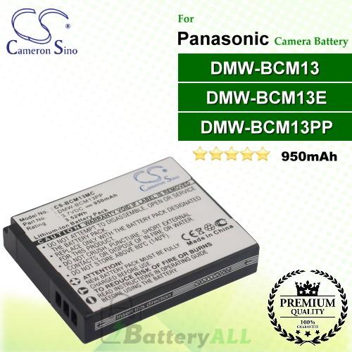 CS-BCM13MC For Panasonic Camera Battery Model DMW-BCM13 / DMW-BCM13E / DMW-BCM13PP