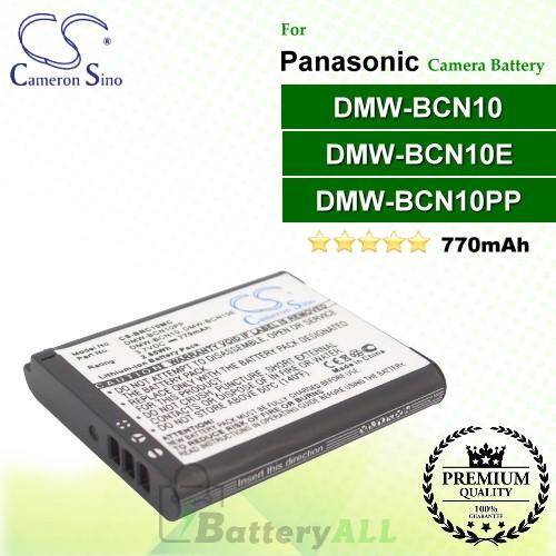 CS-BNC10MC For Panasonic Camera Battery Model DMW-BCN10 / DMW-BCN10E / DMW-BCN10GK / DMW-BCN10PP