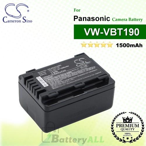 CS-HCV210MC For Panasonic Camera Battery Model VW-VBT190