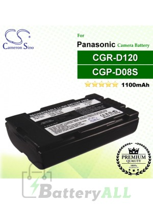 CS-PDR120 For Panasonic Camera Battery Model CGP-D08S / CGR-D08R / CGR-D120