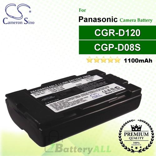 CS-PDR120 For Panasonic Camera Battery Model CGP-D08S / CGR-D08R / CGR-D120